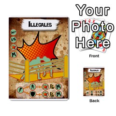 Lucha Cartas Manoeuvres X4 By Gabzeta   Multi Purpose Cards (rectangle)   3s9uaw6z7pfd   Www Artscow Com Front 44