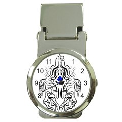 Tribal Chrome Money Clip With Watch