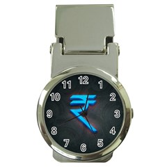 Rupee Money Clip With Watch