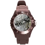 rock watch - Round Plastic Sport Watch (L)
