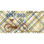 Best Dad 3D Greeting Card - #1 DAD 3D Greeting Card (8x4)