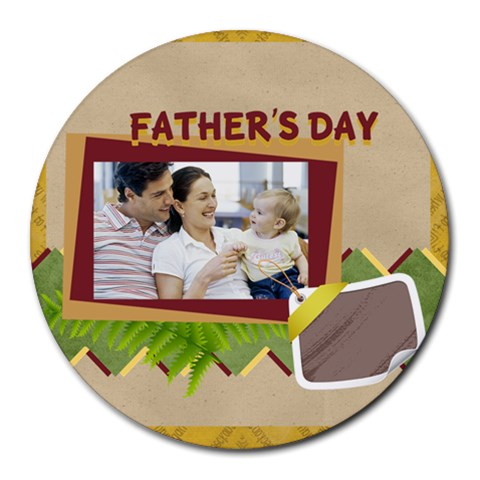 Fathers Day By Dad   Collage Round Mousepad   4c46q5zf18d3   Www Artscow Com 8 x8 Round Mousepad - 1
