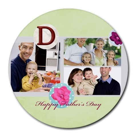Fathers Day By Dad   Round Mousepad   61jazwkj7dad   Www Artscow Com Front