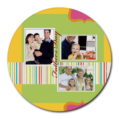 Fathers Day By Dad   Collage Round Mousepad   1fn313gl7iir   Www Artscow Com 8 x8 Round Mousepad - 1