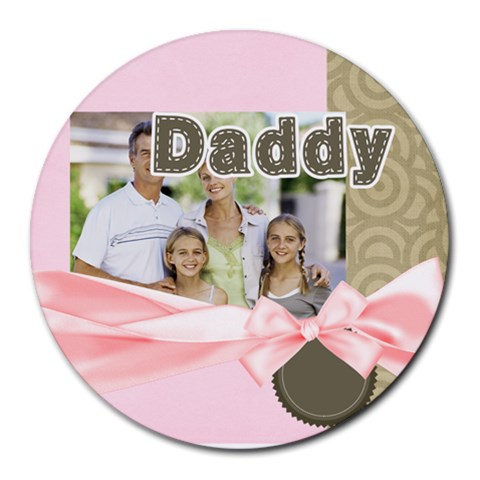 Fathers Day By Dad   Collage Round Mousepad   4z1u5juez1t3   Www Artscow Com 8 x8 Round Mousepad - 1