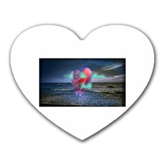 As The Rain Falls Mouse Pad (heart) by AuthorPScott