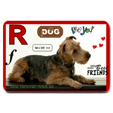 Rosco Dinner 2 By Cara Fletcher   Large Doormat   Sfzgyz47rz8e   Www Artscow Com 30 x20 Door Mat - 1