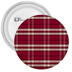Red White Plaid 3  Button by crabtreegifts