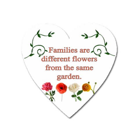 Families By Angeye   Magnet (heart)   Hrswu557rk6p   Www Artscow Com Front