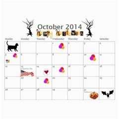 Calendar 2014 By Loralie   Wall Calendar 11  X 8 5  (12 Months)   1xnjgm64ct2p   Www Artscow Com Oct 2014