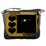 I Heart You Gold Messenger Bag