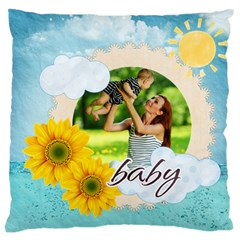 Summer By Summer Time    Large Cushion Case (two Sides)   Gj5lbz0yw9x8   Www Artscow Com Back
