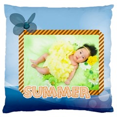 Summer By Summer Time    Large Cushion Case (two Sides)   Dd5iq8mfou5l   Www Artscow Com Front