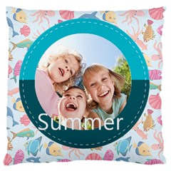 Summer By Summer Time    Large Cushion Case (two Sides)   Olc13cc95zbf   Www Artscow Com Back