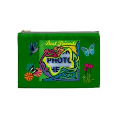 Best Friends Medium Cosmetic Bag By Joy Johns   Cosmetic Bag (medium)   J6eqadwrtru9   Www Artscow Com Front