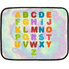 Kid s Abc Blanket By Joy Johns   Double Sided Fleece Blanket (mini)   Apcklrrbxr17   Www Artscow Com 35 x27 Blanket Front