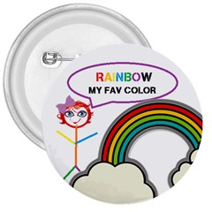 Rainbow 3  Button by awesomesauceshop