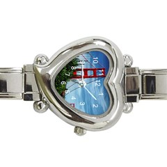 Golden Gate And The Flower s  Heart Italian Charm Watch  by designsbyvee