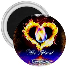 Thefloralcovenant 3  Button Magnet by AuthorPScott