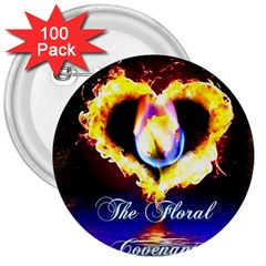 Thefloralcovenant 3  Button (100 Pack) by AuthorPScott