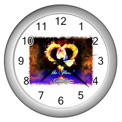 Thefloralcovenant Wall Clock (silver) by AuthorPScott