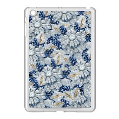 Flower Sapphire And White Diamond Bling Apple Ipad Mini Case (white) by artattack4all