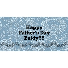 Zaidy Card By Winingerfamily   Twin Hearts 3d Greeting Card (8x4)   Xr8a0a2p6b2r   Www Artscow Com Front