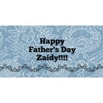 zaidy card - Twin Hearts 3D Greeting Card (8x4)