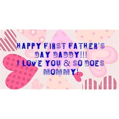 Fathers Day Card 1 By Delilah   #1 Dad 3d Greeting Card (8x4)   Idznxkpvjb3m   Www Artscow Com Front