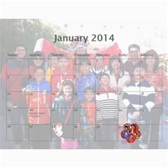 L?ch T?t 2013 2014 By Phungm   Wall Calendar 11  X 8 5  (18 Months)   Ljvpt9b9dyzo   Www Artscow Com Jan 2014