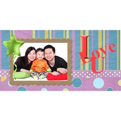 Father s Card By Vicky Li   #1 Dad 3d Greeting Card (8x4)   No0b8qn971sn   Www Artscow Com Back
