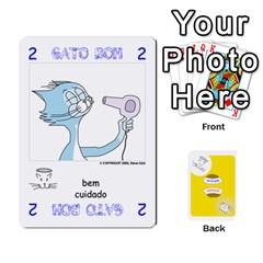 Gato Bom Gato Mau By Alan Romaniuc   Playing Cards 54 Designs   Romh4c1ygh4o   Www Artscow Com Front - Spade3