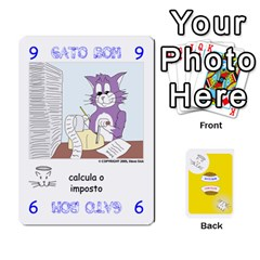 Gato Bom Gato Mau By Alan Romaniuc   Playing Cards 54 Designs   Romh4c1ygh4o   Www Artscow Com Front - Heart6