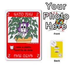 Gato Bom Gato Mau By Alan Romaniuc   Playing Cards 54 Designs   Romh4c1ygh4o   Www Artscow Com Front - Heart8