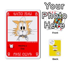 Gato Bom Gato Mau By Alan Romaniuc   Playing Cards 54 Designs   0qr64pa1fo9k   Www Artscow Com Front - Diamond10