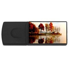 Colorful Trees In Autumn Earth Reflection USB Flash Drive Rectangular (4 GB) by WordArtGift