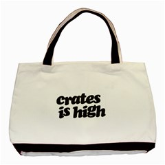 Crates Is High   Black Print Classic Tote Bag by ResearchDeluxe