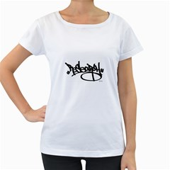 Rdlx Handstyle   Black Print Womens' Maternity T Shirt (white) by ResearchDeluxe