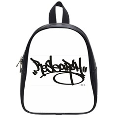 Rdlx Handstyle   Black Print School Bag (small) by ResearchDeluxe