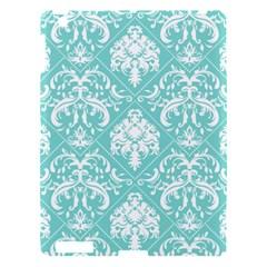 Tiffany Blue And White Damask Apple Ipad 3/4 Hardshell Case by eatlovepray