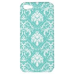 Tiffany Blue And White Damask Apple Iphone 5 Hardshell Case