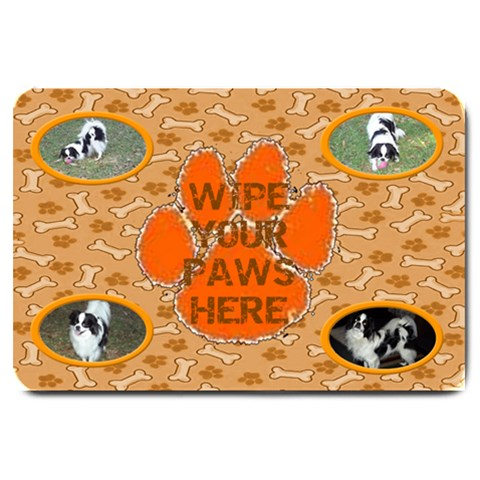 Large Doggie Door Mat By Joy Johns   Large Doormat   Nv0mnjbkcvb3   Www Artscow Com 30 x20 Door Mat - 1