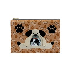 Doggie Medium Cosmetic Bag By Joy Johns   Cosmetic Bag (medium)   73epox7z86ch   Www Artscow Com Front
