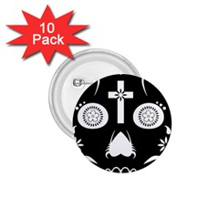 Sugar Skull 1 75  Button (10 Pack) by asyrum