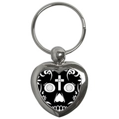 Sugar Skull Key Chain (Heart) by asyrum