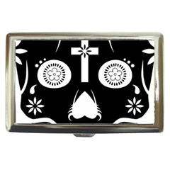 Sugar Skull Cigarette Money Case