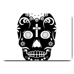Sugar Skull Large Door Mat by asyrum