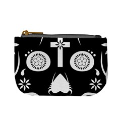 Sugar Skull Coin Change Purse by asyrum