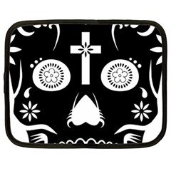 Sugar Skull Netbook Case (xl)
