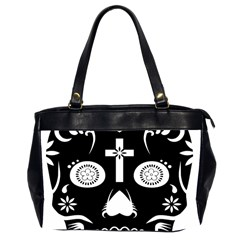 Sugar Skull Oversize Office Handbag (two Sides)